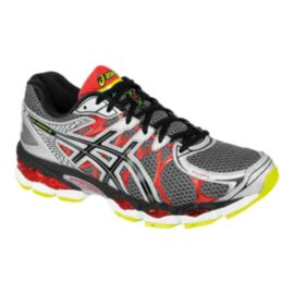 ASICS Men's Gel Nimbus 16 4E Extra Wide Width Running Shoes - Silver Grey/Black/Red