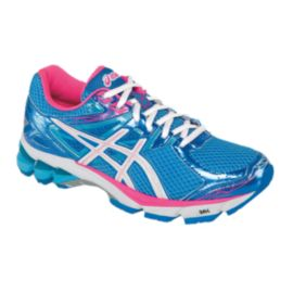 ASICS Women's GT-1000 3 Running Shoes - Light Blue/Pink/White