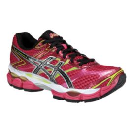 ASICS Women's Gel Cumulus 16 Running Shoes - White/Pink/Green