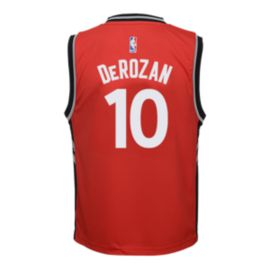 Toronto Raptors DeMar DeRozan Kids' Red Replica Away Basketball Jersey