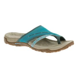 Merrell Women's Terran Post Sandals - Blue/Tan