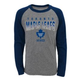 Toronto Maple Leafs Kids' Team Pride Long Sleeve Raglan T Shirt