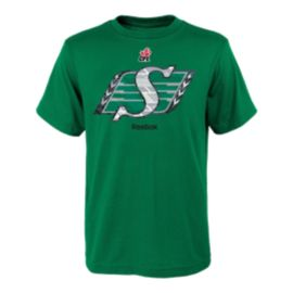 Saskatchewan Roughriders Little Kids' Power Grid Logo T Shirt