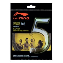 Li Ning Pro Badminton String No 5 - Black
