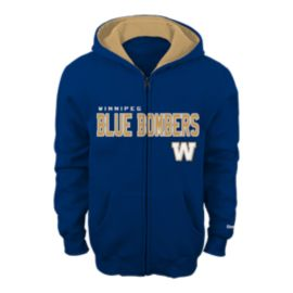 Winnipeg Blue Bombers Kids' Stated Full Zip Hoodie