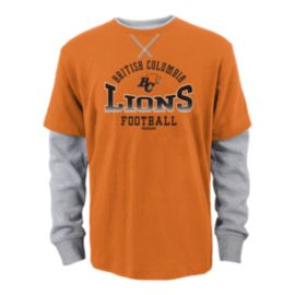 BC Lions Arched Fade Long Sleeve Faux Layer Youth Tee