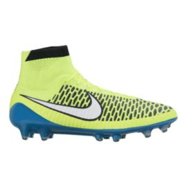 Nike Women's Magista Obra FG WC Outdoor Soccer Cleats - Yellow/Blue