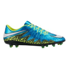 Nike Women's HyperVenom Phinish FG WC Outdoor Soccer Cleats - Blue/Yellow