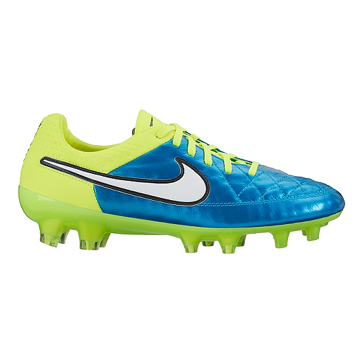 3acbf3b17a4 Nike Women s Tiempo Legend V FG WC Outdoor Soccer Cleats - Blue Yellow