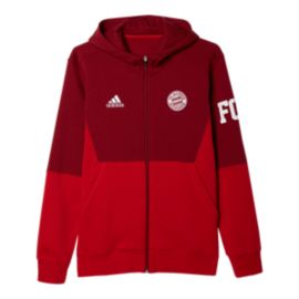 Bayern Munich Full Zip Hoody - Red