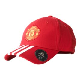 Manchester United 3 Stripe Cap - Red