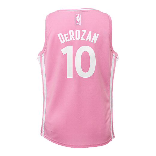 f1079c0de8c Toronto Raptors DeMar DeRozan Fashion Girls Pink Basketball Jersey - PINK