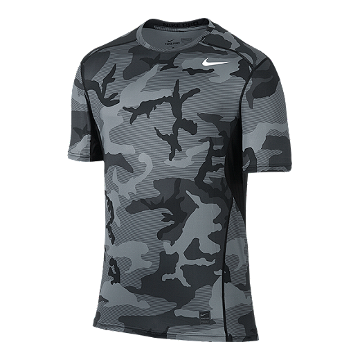 dc40cba8d41ba Nike Hypercool Fitted All Over Print Men's Short Sleeve Top - 010 BLACK/ ANTHRACITE