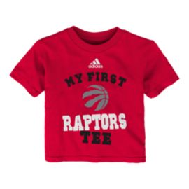 Toronto Raptors My New First Baby Red Tee
