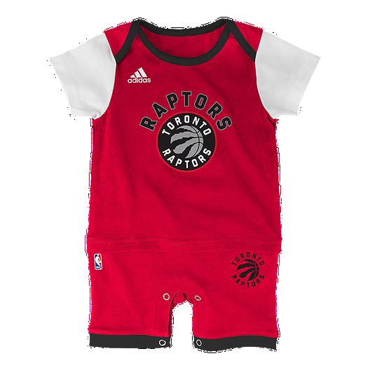 watch 3fade 8f58f Toronto Raptors Baby Fan Basketball Jersey Romper | Sport Chek