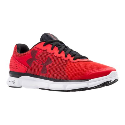 Under Armour Men's Micro G Speed Swift Running Shoes - Red/Black/White