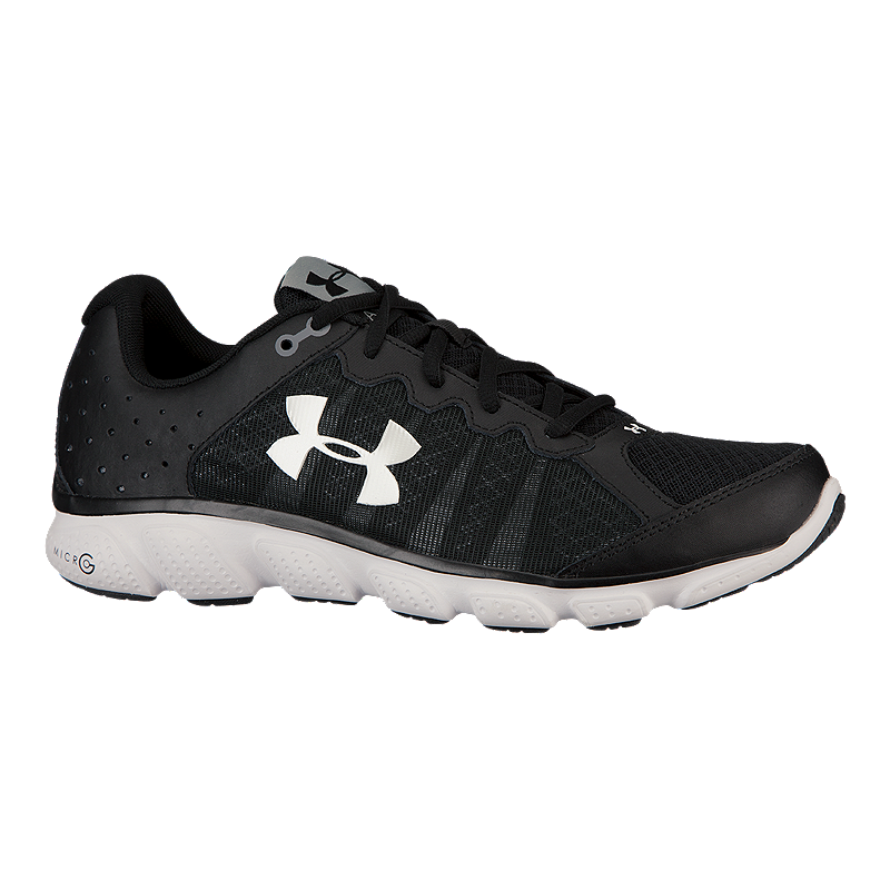 7833c508886 Under Armour Men s Micro G Assert 6 Running Shoes - Black White ...