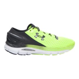Under Armour Men's SpeedForm Gemini 2 Running Shoes - Lime Green/Black/White