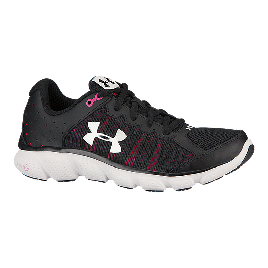 0cd31216e458 Under Armour Women s Micro G Assert 6 Running Shoes - Black Pink White