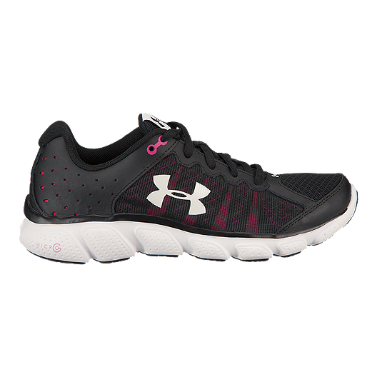 84e3b5c00e94 Under Armour Women s Micro G Assert 6 Running Shoes - Black Pink White