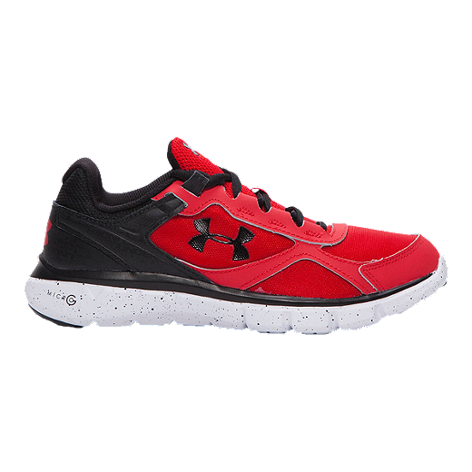 18092a53 Under Armour Kids' Micro G Velocity Grade School Running Shoes - Red ...