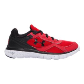 Under Armour Kids' Micro G Velocity Grade School Running Shoes - Red/Black