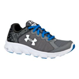 Under Armour Kids' Micro G Assert 6  Grade School Running Shoes - Grey/Blue