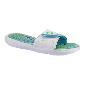 5f250a985 Under Armour Women s Ignite VII Ombre SL Sandals - White Green Blue