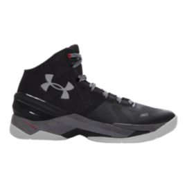 "Under Armour Men's Curry 2 ""The Professional"" Basketball Shoes - Black/Grey"