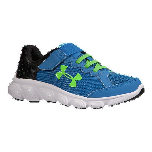5ee4243eac77 Under Armour Kids  Assert 6 AC Preschool Running Shoes - Blue Green ...