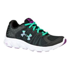 Under Armour Girls' Assert 6 Grade School Running Shoes - Black
