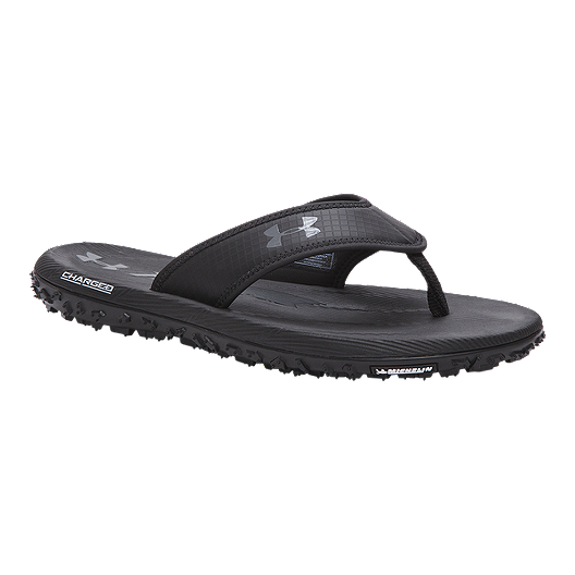 fbdb89a46b4 Under Armour Men s Fat Tire Sandals - Black Graphite