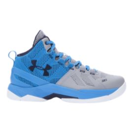 "Under Armour Curry 2 ""Electric Blue"" Kids' Grade-School Basketball Shoes"