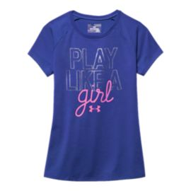 Under Armour Play-Like-A-Girl Girls' Tee