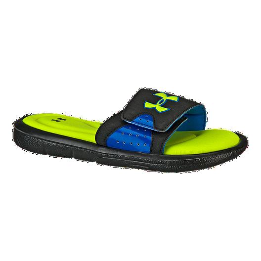 1fd17a72b Under Armour Kids' Ignite IV SL Sandals - Blue/Green   Sport Chek