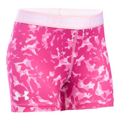 Under Armour Girls' 3 Inch Printed Armour Shorts