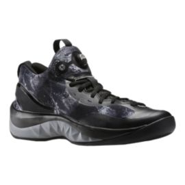 "Reebok Men's ZPump Rise ""Water Print"" Basketball Shoes  - Black"