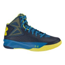 Under Armour Men's Rocket Basketball Shoes - Navy/Blue/Yellow