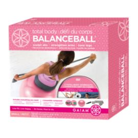 Gaiam Pink 55cm Total Body Balance Ball