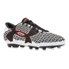 Under Armour Men's ClutchFit Force 2.0 FG Outdoor Soccer Cleats - White/Black/Red