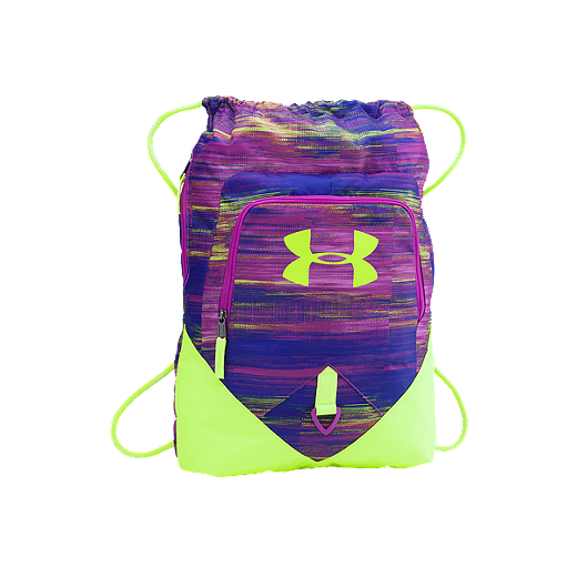 35a93414d9 Under Armour Undeniable Sackpack - Purple - 577 - STROBE/ FUEL GREEN/ STROBE