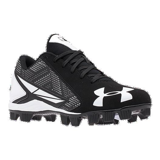 factory price 3d7da 0a1ed Under Armour Men s Leadoff Low RM Baseball Cleats - Black White   Sport Chek