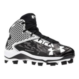 Under Armour Men's Deception Mid TPU Baseball Cleats - Black/White