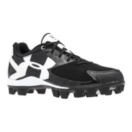 Under Armour Women's Glyde RM Softball Cleats - Black/White