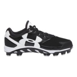 Under Armour Women's Spine Glyde TPU Softball Cleats - Black/White