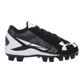 Under Armour Kids' Leadoff Low RM  Baseball Cleats - Black/White