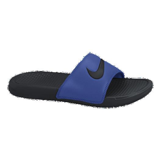 3ce93b74dd98 Nike Men s Benassi Swoosh Sandals - Blue Black