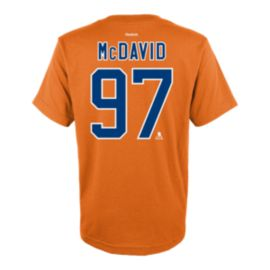 Edmonton Oilers Connor McDavid Flat PA Youth Tee