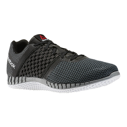 b4d180b76e4d Reebok Men s Z-Print Run Running Shoes - Black Knit Grey White ...