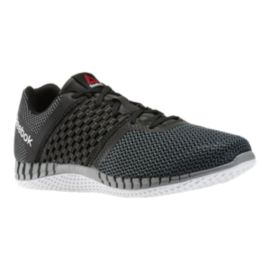 Reebok Men's Z-Print Run Running Shoes - Black Knit/Grey/White
